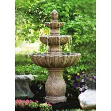 Three Tier Mirabella Scallop Fountain